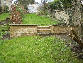 Garden Wall and steps